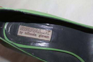 Pantofi verde măr Sepala by Mihaela Glăvan