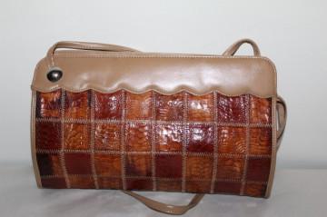 Poseta patchwork sin piele de curca anii '70 - '80