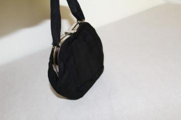 Poseta vintage din crepe negru anii '20