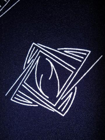 Rochie bleumarin print grafic anii '60