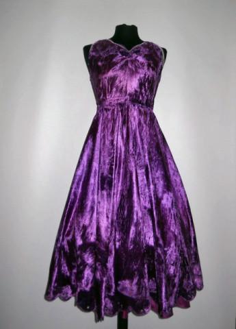 Rochie de ocazie din catifea violet anii '60