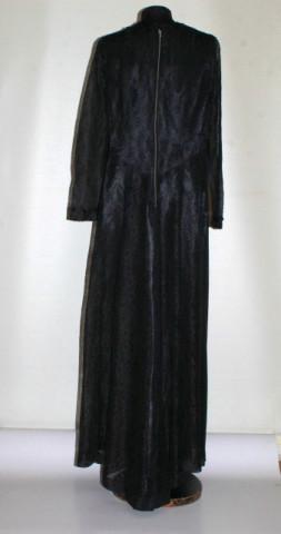 Rochie de seară vintage din dantelă neagră anii 60