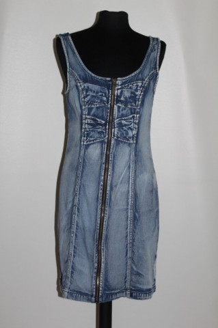 Rochie din jeans prespalat anii '90