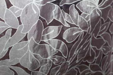 Rochie din organza flori lila anii 60