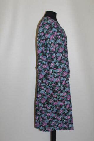 Rochie flori pe fond negru anii 70