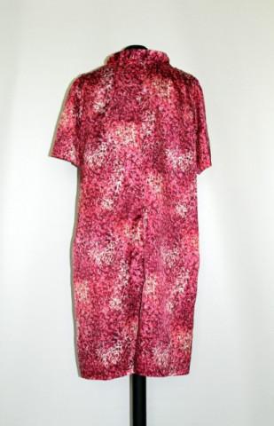 Rochie print abstract roz anii '60