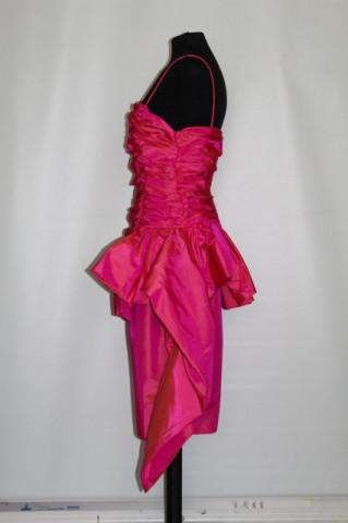 Rochie retro de ocazie shocking pink anii '80