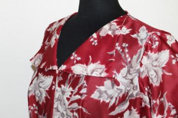 Rochie rosu marsala anii '60