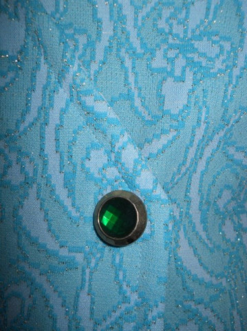 Rochie vintage brocart albastru anii '60