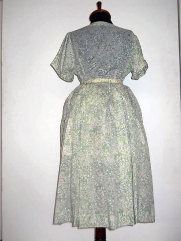 Rochie vintage din matase gofrata anii '50