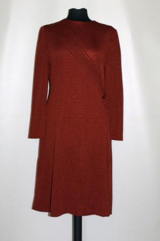 Rochie vintage maro fundiță anii 60