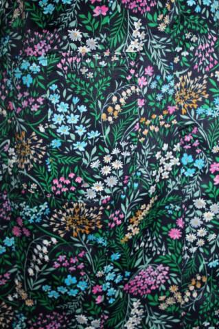 Rochie vintage  print floral multicolor anii ' 60