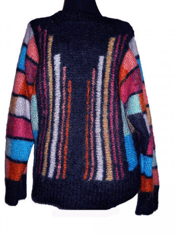 Pulover vintage din mohair cu dungi anii '70