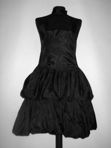 Rochie de ocazie din moar negru anii '80