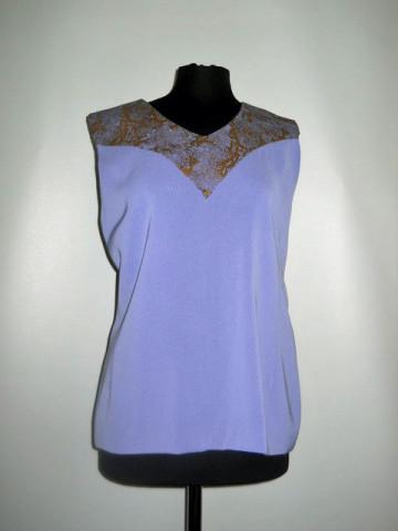 Bluza violet pictura bronz anii '60