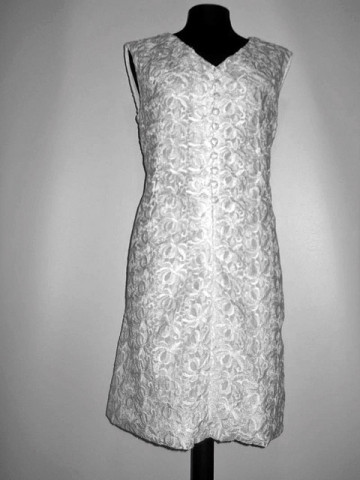 Rochie de ocazie vintage alba anii '60