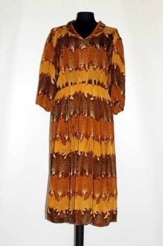 Rochie vintage din batist maro anii '40