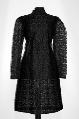 Rochie vintage din dantela neagra anii '60
