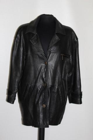 Jacheta din piele naturala maro anii '80