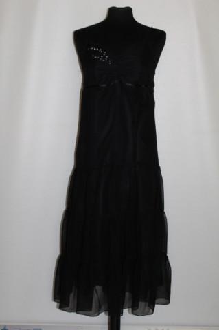 Rochie de ocazie din voal negru anii '90