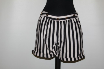 Pantaloni scurți dungi repro anii 60