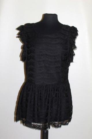 Bluză din dantelă neagră repro anii 70