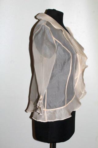 Bluză din organza ivoire anii 90