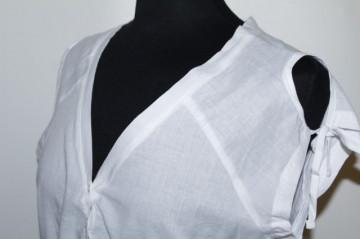 Bluza din panza alba repro anii '70