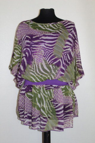 Bluză jungle print stilizat repro anii 70