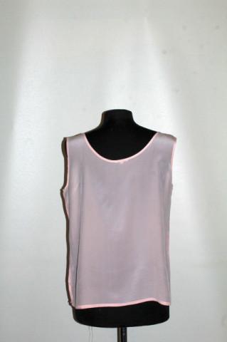 Bluză mătase naturală roz porțelan anii 80