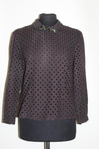 Bluza vintage brodata neagra anii '40