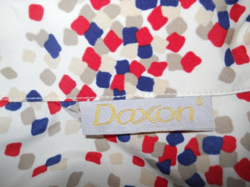 "Bluza vintage model geometric ""Daxon"" anii '70"