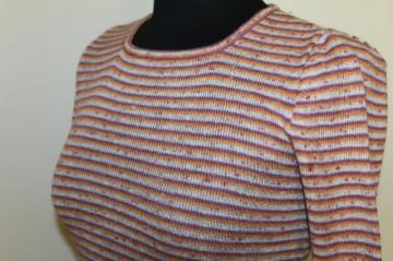 Bluza vintage tricotata cu dungi portocalii anii '70