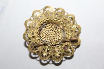 Broșă floare stilizată perioada victoriană cca. 1880