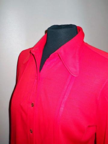 "Camasa vintage ""Leacril Chantillon"" rosie anii '60"