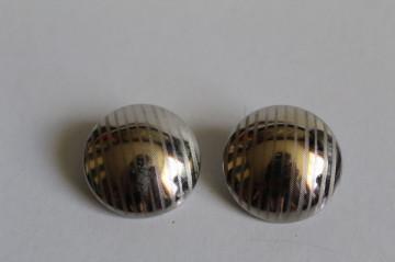 Cercei argintii dungi anii 70-80