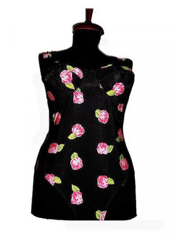 Costum de baie vintage print trandafiri anii '70 - '80