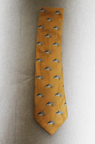 "Cravata delfini brodati ""Daniels & Korff"" anii '80"