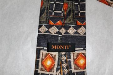 "Cravata flori portocalii ""Monti"" anii '80"