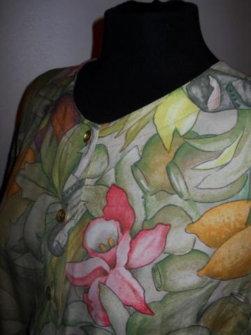 Deux pieces jungle print anii '80