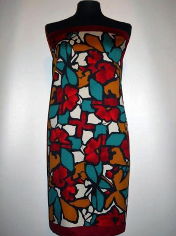 Esarfa vintage flori stilizate anii '70