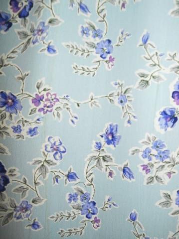 Fusta maxi bleu cu flori violet anii '80