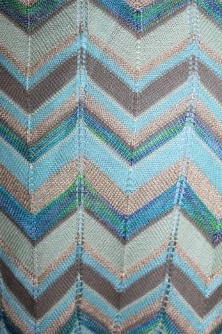 Fustă tricot ajurat stil Missoni anii 90