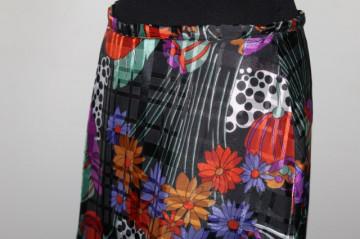 Fustă vintage maxi flori multicolore anii 70