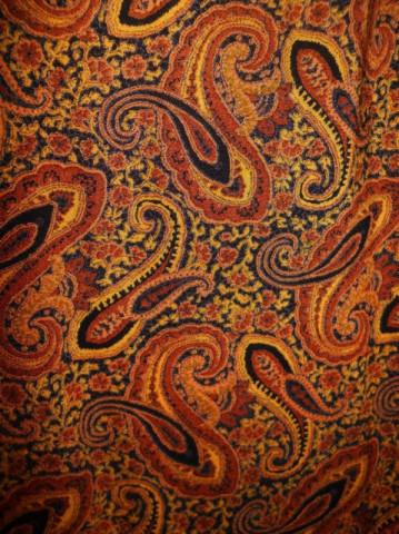 Fusta vintage print paisley maro anii '70 - '80