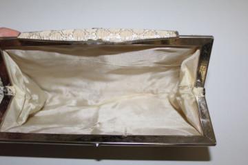 Plic vintage din brocart ivoire anii 50