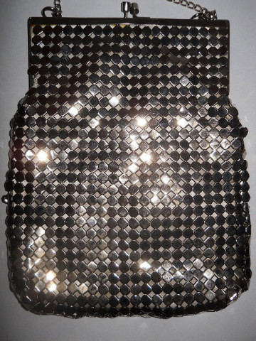 Poseta mesh metalic anii '70