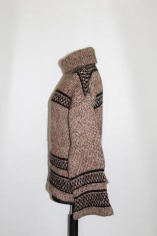 Pulover lana model geometric anii '70