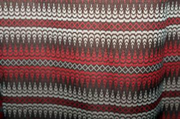 Rochie cărămizie print geometric anii 70