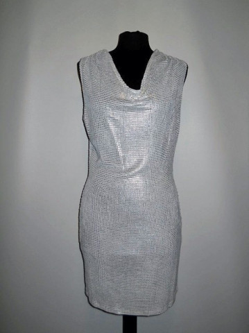 Rochie de ocazie argintie repro anii '70